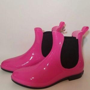 Seven7 Pink Rain Boots Womens Size 11 New